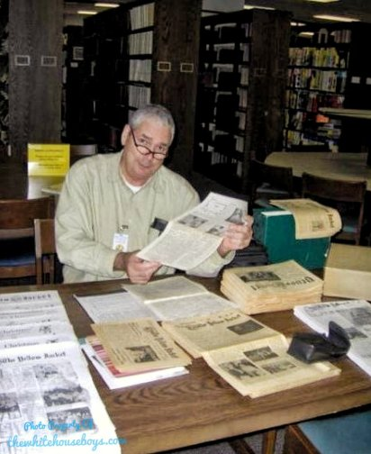 Mr. Andrew Puel At The State Archives...Sitting In The EXACT Same Spot That I Did When I Was There!